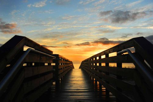 Jekyll Island Convention Center Boardwalk Sunrise