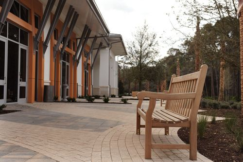 Jekyll Island Convention Center Pavers, Bench, Landscape (Gibson Landscape)